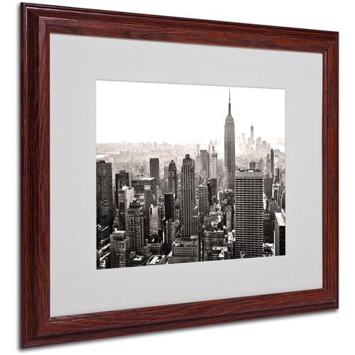 "Trademark Fine Art ""Manhattan"" Matted Framed Art by CATeyes"