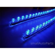 SmallAutoParts Pvc Light Strips, Blue - Set Of 2