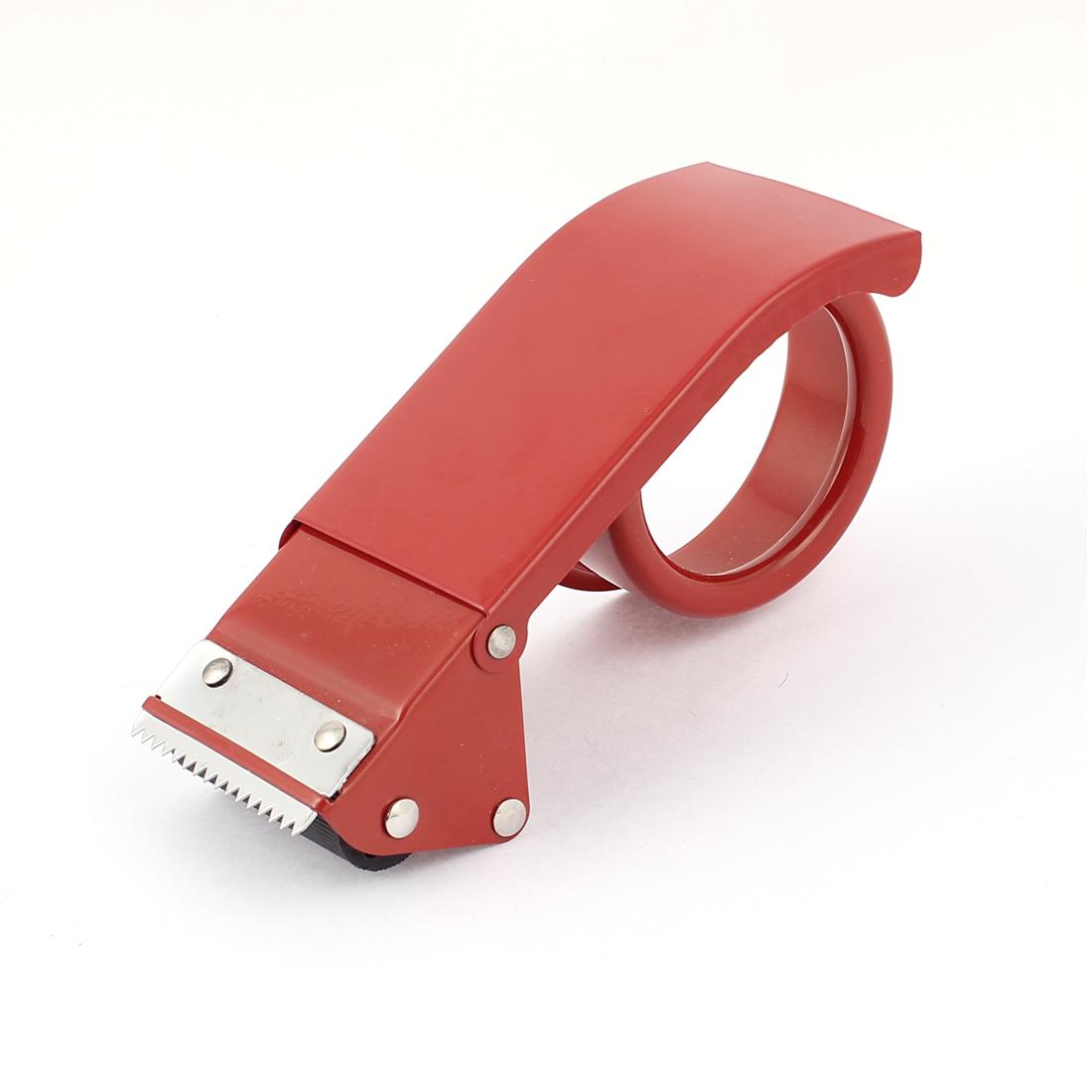 "Unique Bargains Metal 2"" Width Packaging Adhesive Tape Cutter Roller Dispenser"