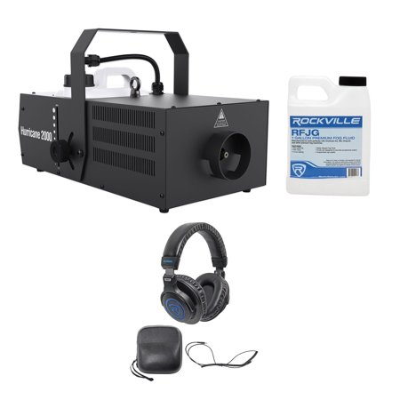 Chauvet DJ Hurricane 2000 DMX Fog Machine Fogger Built-In Timer+Headphones+Fluid - Bubble Fogger