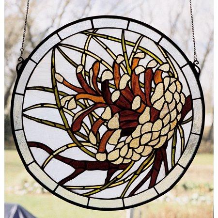 Pinecone Medallion Window Panel ()