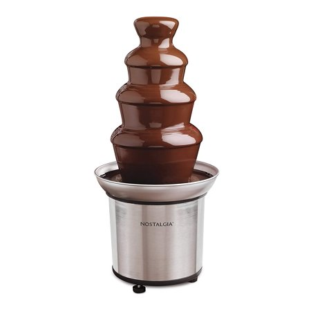 Nostalgia CFF986 4-Tier 2-Pound Stainless Steel Chocolate Fondue Fountain
