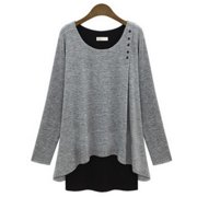 Womens Layered Top in Two Tone