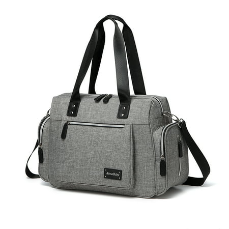 a817202f4c5af Diaper Bag Large Diaper Tote Stylish for Mom and Dad Convertible Travel  Baby Bag for Boys and Girls with Changing Pad Insulated Pockets -  Walmart.com