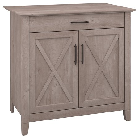 Directly Home Furniture (Bush Furniture Key West Secretary Desk with Keyboard Tray and Storage Cabinet in Washed Gray )