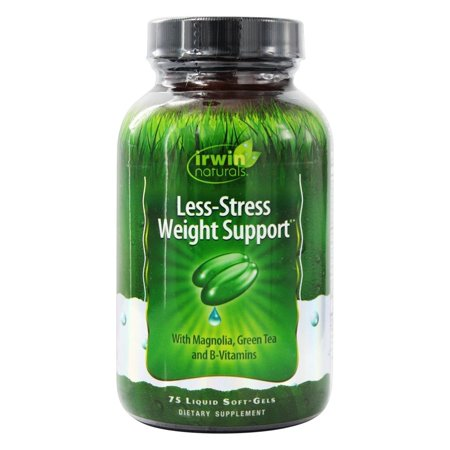 Irwin Naturals Less-Stress Weight Support Pills with Green Tea, Liquid Soft Gels, 75 Ct.