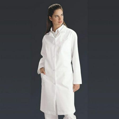 Ladies Full Length Lab Coat, White, Medium, EACH