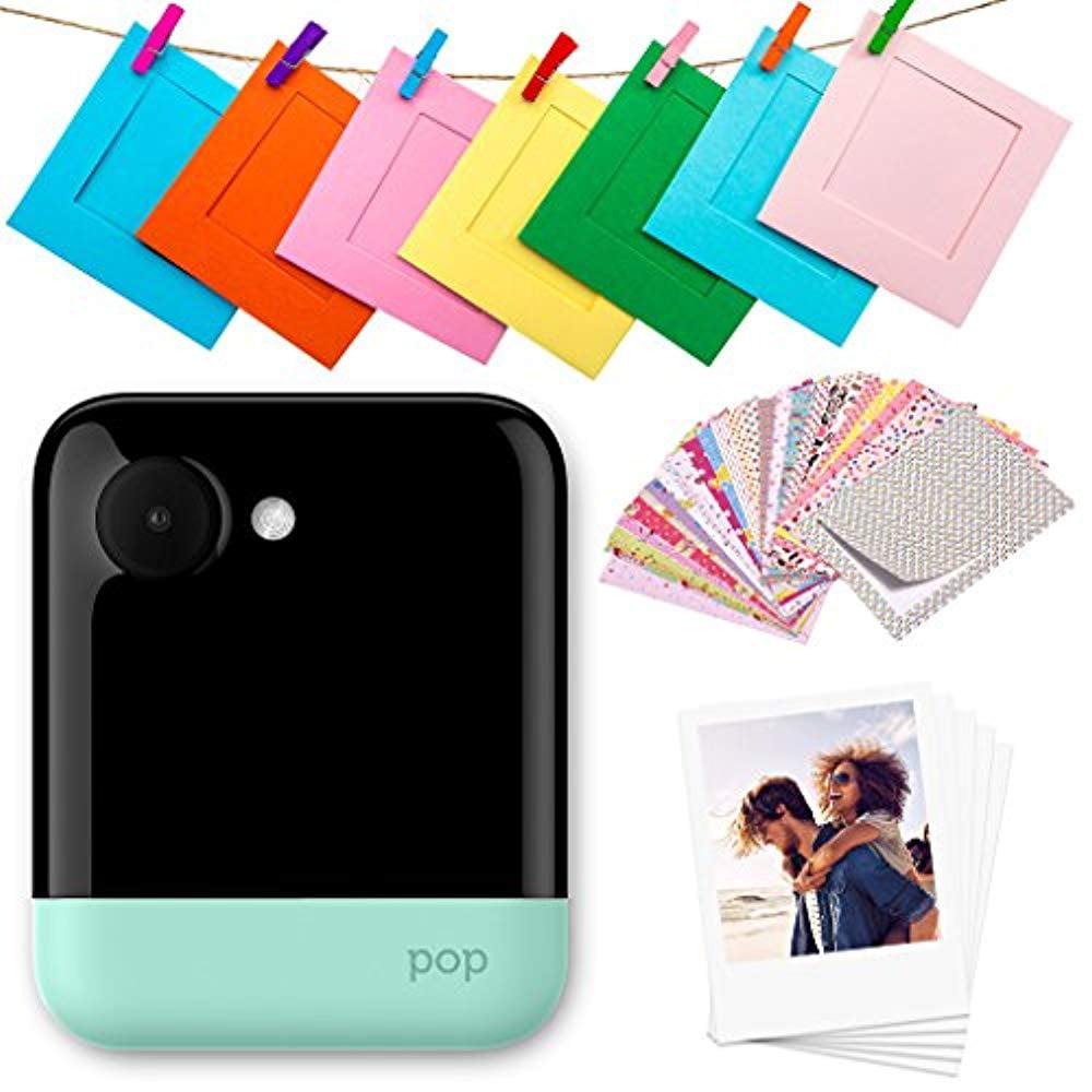 "Polaroid POP 2.0 – 20MP Instant Print Digital Camera w/3.97"" Touchscreen Display, Built-In Wi-Fi, 1080p HD Video, ZINK Zero Ink Technology & NEW App – Prints 3.5"" x 4.25"" Classic Border Photos - Green"