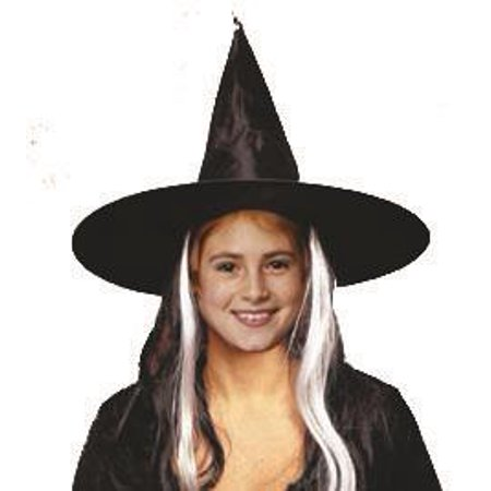 Child Witch Hat with wig](Kids Witch Hat)