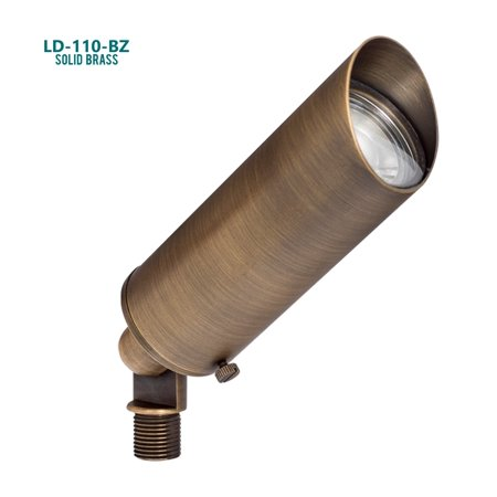 Westgate 12V LED Directional Lights – Cast Solid Brass with Antique Bronze Finish – 360° Beam Angle – IP67 Wet Location Approved – 70,000 Hours Lifespan - 5 YR Warranty