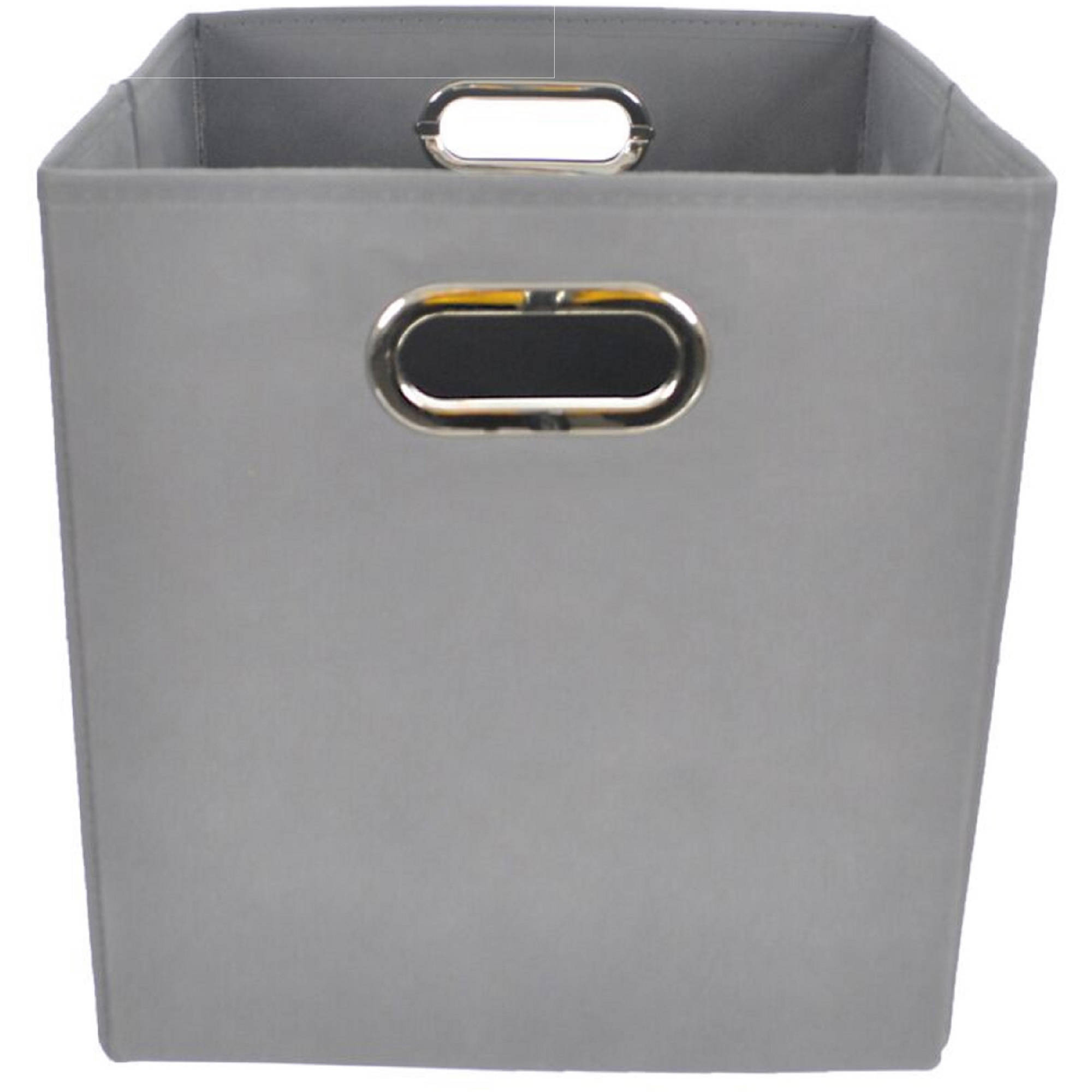 Bold Solid Grey Folding Storage Bin by