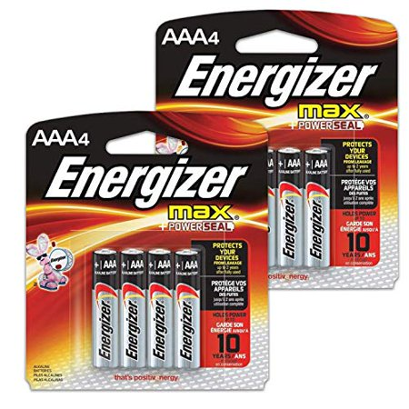 8 Count Energizer Max AAA Batteries - 2 Pack of 4 AAA4 Total of 8 Batteries, The Perfect Choice of Power for All AAA Battery Operated Devices 8 Count Energizer Max AAA Batteries - 2 Pack of 4 AAA4 Total of 8 Batteries, The Perfect Choice of Power for All AAA Battery Operated Devices