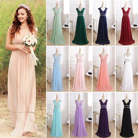 Ever-Pretty Women's Burgundy Long Evening Party Wedding Bridesmaid Dresses for Women 08697 Burgundy US 4