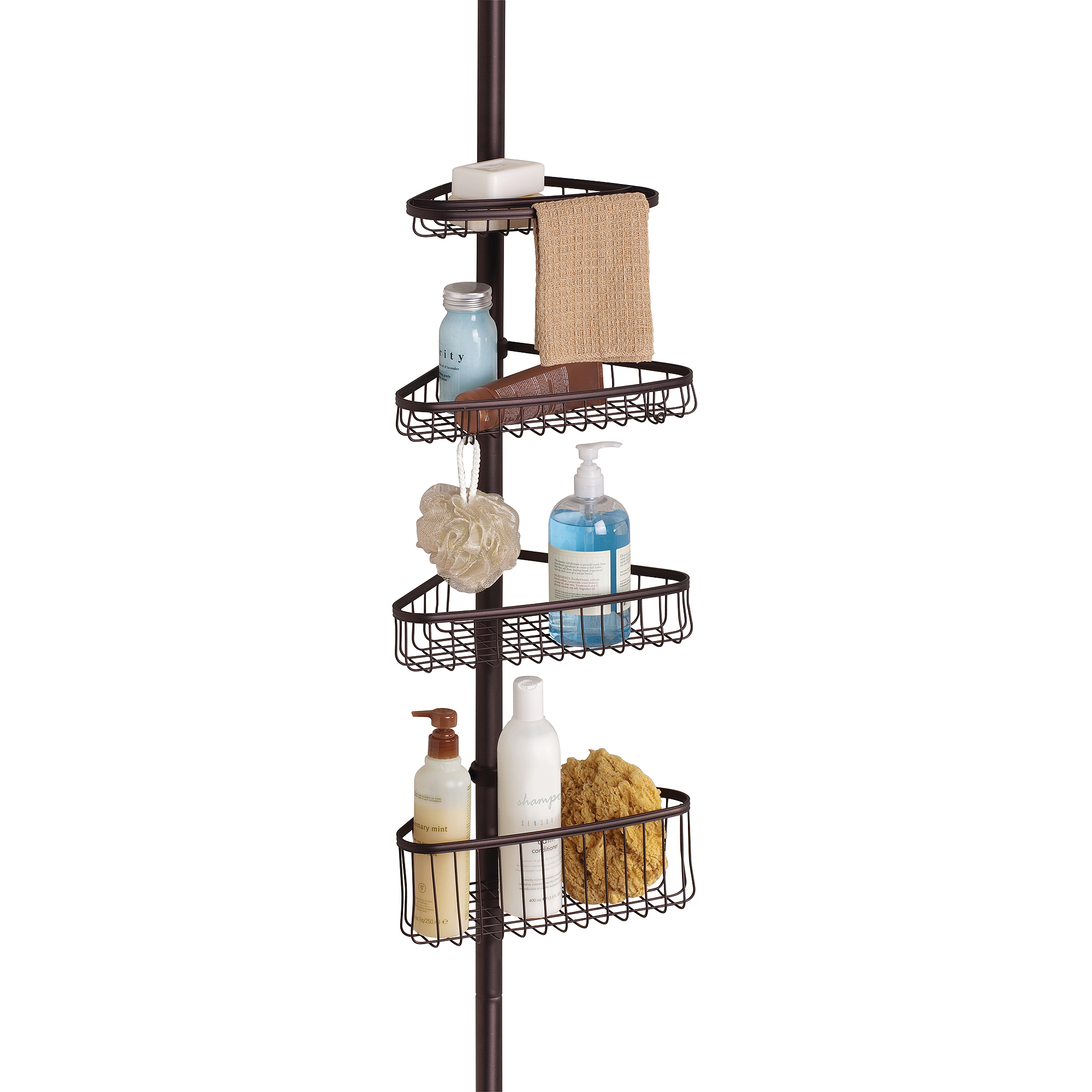 . InterDesign York Tension Shower Caddy 2   Walmart com