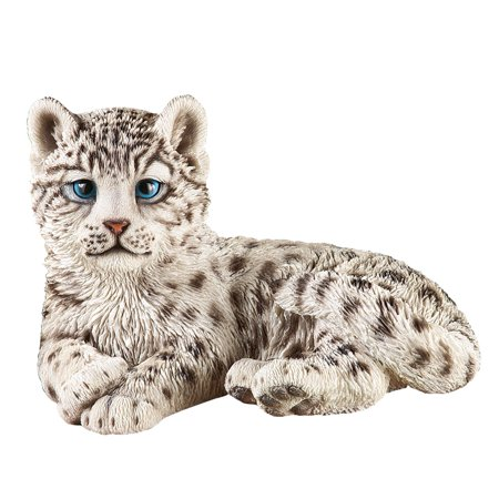 Collections Etc. Snow Leopard Outdoor Garden Statue Animal Decoration