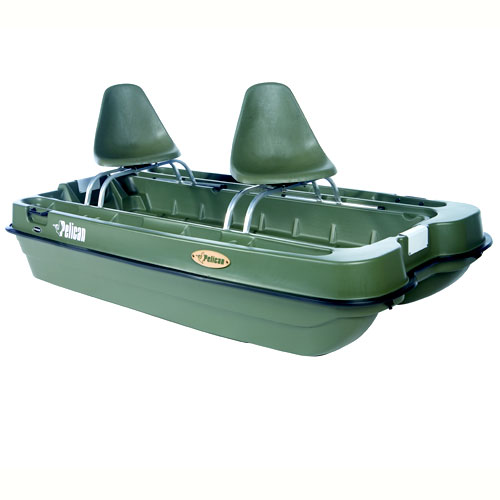Pelican Bass Raider 8' Mini-Pontoon Fishing Boat
