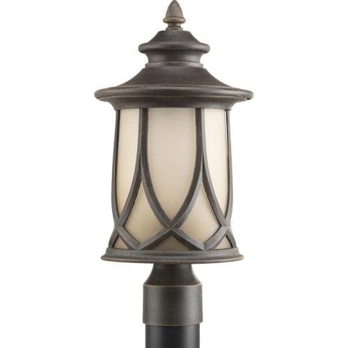 Progress Lighting P6404 Resort Single-Light Post Lantern with Gradual Umber Etched Glass Shade by Progress Lighting