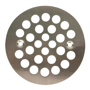 "Satin Nickel Round Shower Grate Drain 4 1/4"" Replacement Cover"