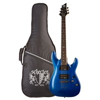C-1  SGR by Schecter - Midnight Satin Black - Electric Blue, Guitar