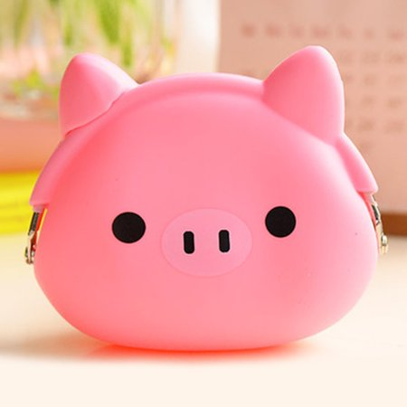 New Women Coin Purse Silicone Kawaii Cartoon Animal Money Bag Candy Color Mini Wallet Girls Birthday Gift](Candy Bag Purses)
