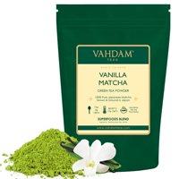 VAHDAM, Vanilla Matcha Green Tea Powder, Superfood Matcha Powder, 3.53oz