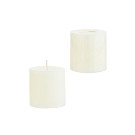 1 X Hanna's 3x3 Pillar Candle Ivory Unscented -