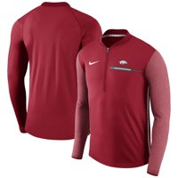Arkansas Razorbacks Nike Coaches Sideline Half-Zip Jacket - Cardinal