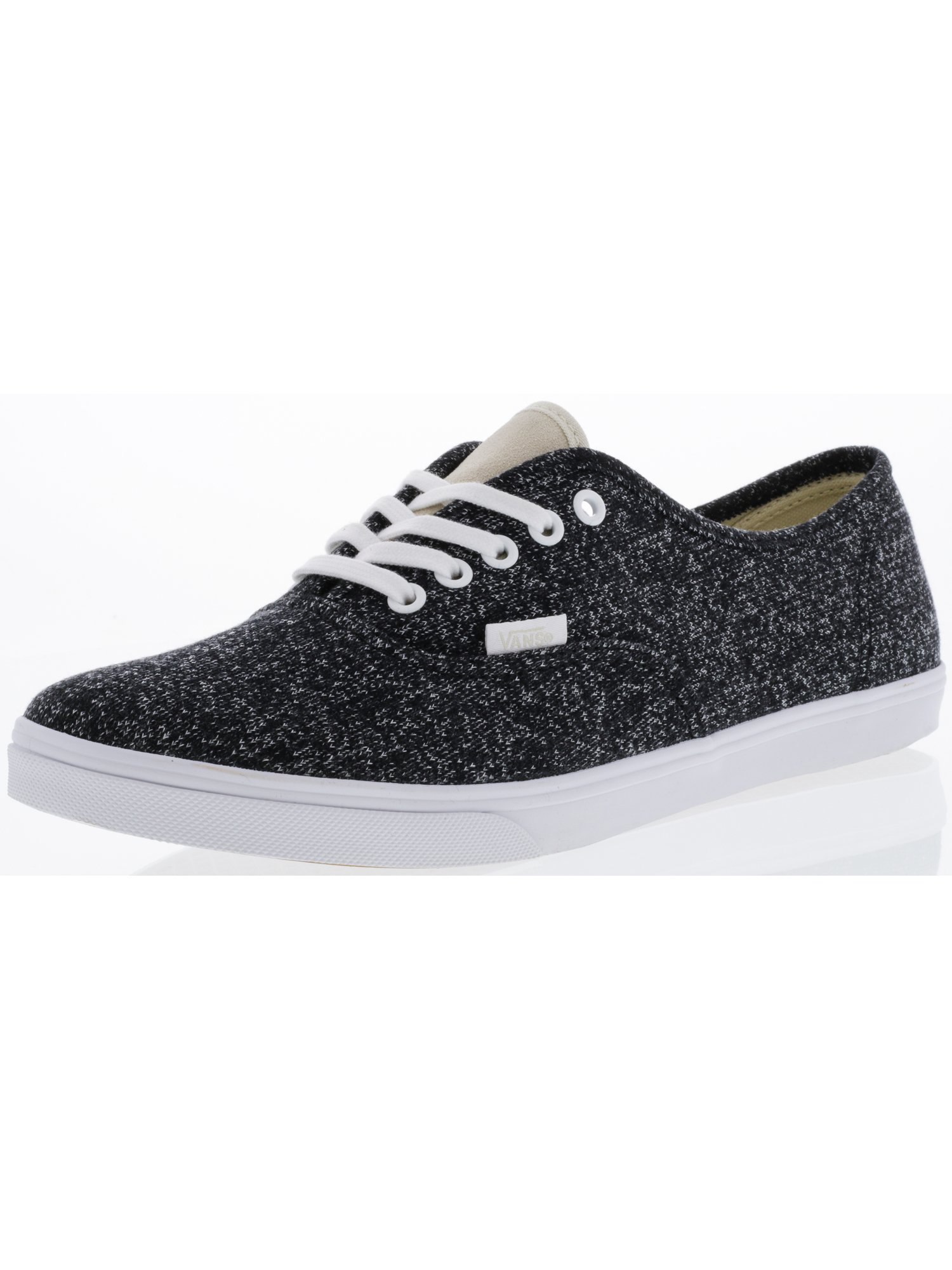 Vans Authentic Lo Pro J And S Black / True White Ankle-High Fabric Skateboarding Shoe - 9.5M 8M