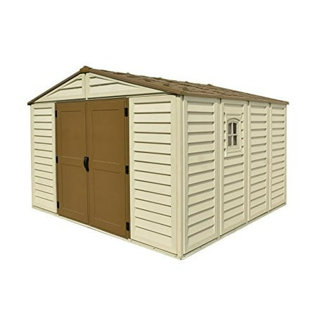 Duramax Building Products Woodbridge Plus Vinyl Shed with Foundation Duramax Vinyl Outdoor Shed