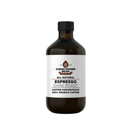 Espresso Dark Roast Cold Brew Iced Coffee Hot Coffee Liquid Java Concentrate ( 4 Ounce Bottle) Makes 12-16 (Iced Coffee Drinks To Make At Home)