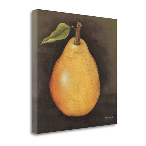 Tangletown Fine Art 'Yellow Pear' Print on Canvas