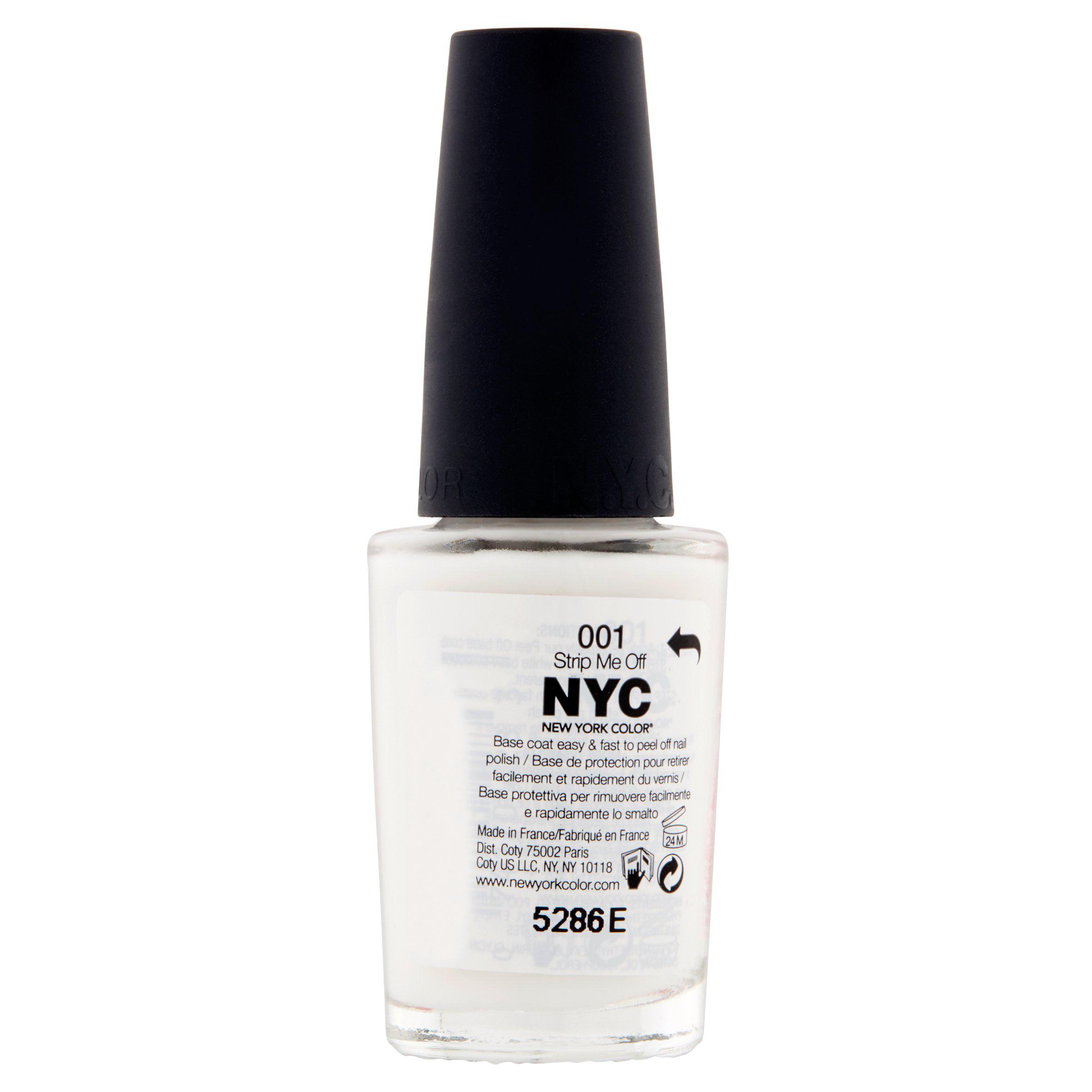 NYC New York Color Strip Me Off Base Coat, 0.33 fl oz - Walmart.com