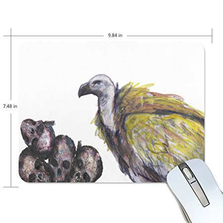 POPCreation Birds With Skeleton Mouse pads Gaming Mouse Pad 9.84x7.87 inches