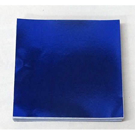 """6"""" X 6"""" Dark Blue Confectionery Foil Wrappers Candy Wrappers Candy Making Supplies"""