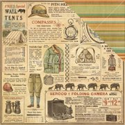 Safari Adventure Double-Sided Cardstock 12 Inch X 12 Inch-Serenget