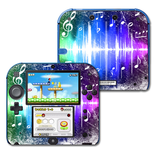 Mightyskins Protective Vinyl Skin Decal Cover for Nintendo 2DS wrap sticker skins Music Man