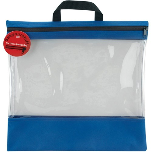 Lyle 16-Inch by 16-Inch See Your Stuff Clear Storage Bags, Royal Multi-Colored