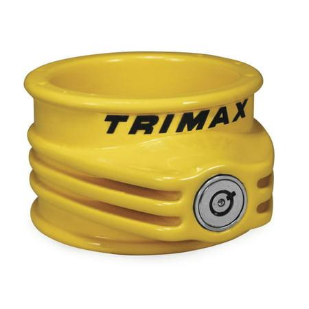 Trimax 5th Wheel Trailer Lock Yellow   TFW55