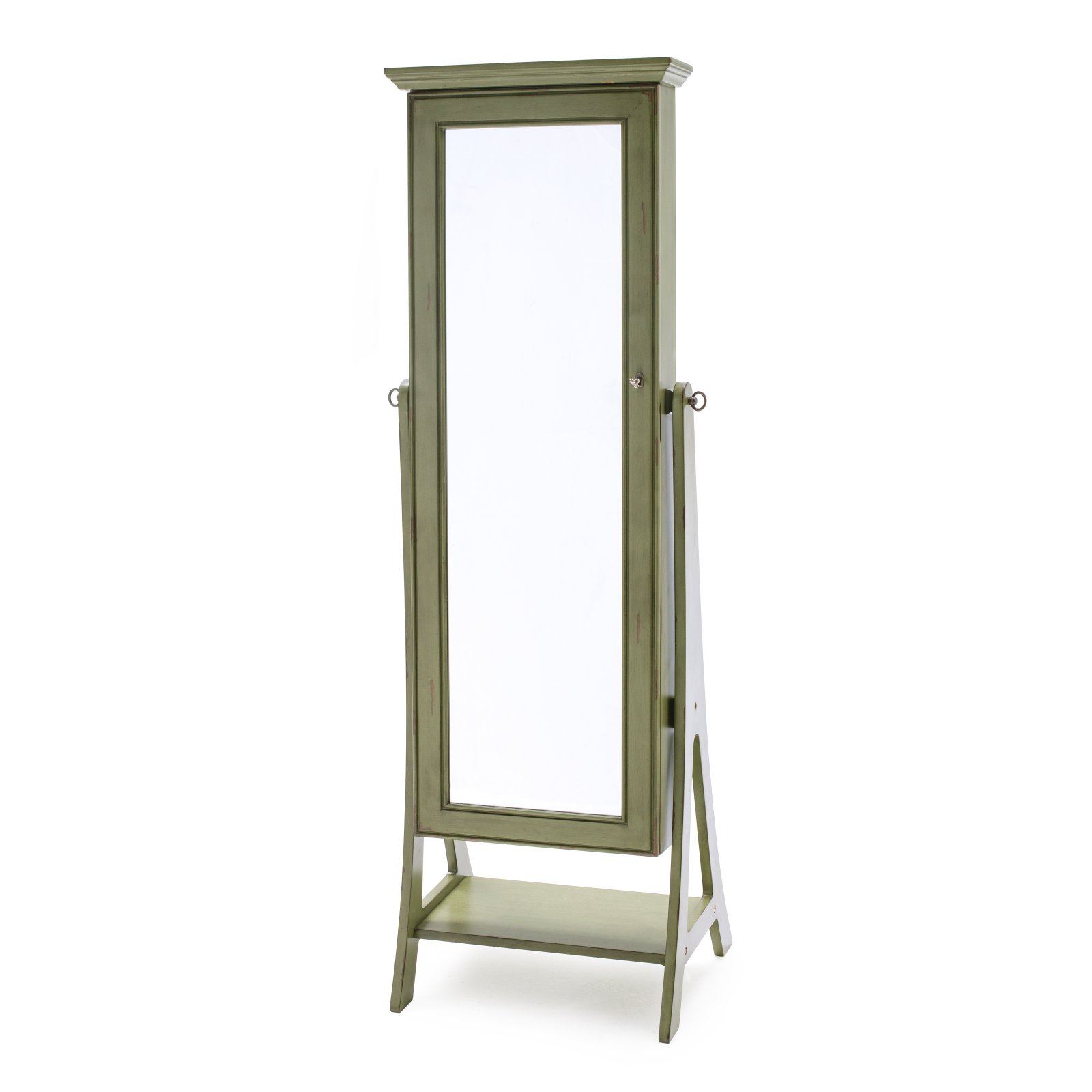Belham Living Locking Cheval Mirror Jewelry Armoire Walmartcom
