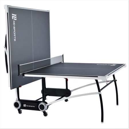 MD Sports 2-Piece Official Size Table Tennis Table, Includes Set of Post and Net, Sturdy Steel Leg Construction, (Joola Snapper Table Tennis Net And Post Set)
