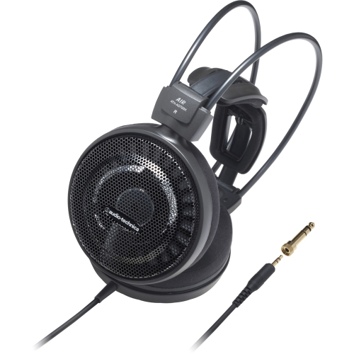 """Audio-Technica ATH-AD700X Audio-Technica ATH-AD700X Audiophile Open-air Headphones - Stereo - Black - Mini-phone - Wired - 38 Ohm - 5 Hz 30 kHz - Gold Plated - Over-the-head -"