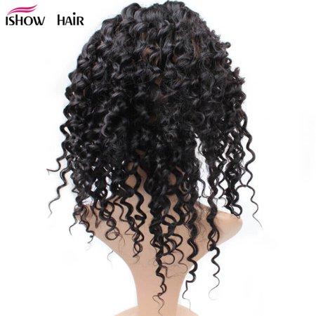 Remi Deep Wave - Allove Brazilian Virgin Hair Deep wave 360 Frontal Lace Closure Free Part, 14