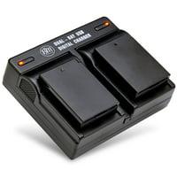 BM Premium 2 LP-E10 Batteries and Dual Bay Battery Charger for Canon EOS Rebel T3, T5, T6, T7, EOS 1100D, EOS 1200D, EOS 1300D, EOS 2000D Cameras