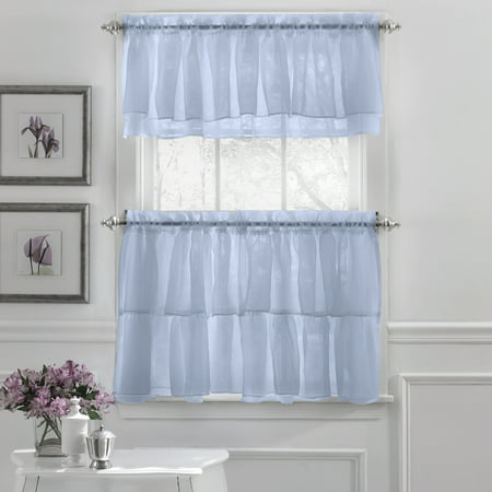 Gypsy Crushed Voile Ruffle Kitchen Window Curtain 24