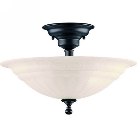 - Dolan Designs Richland - Three Light Semi - Flush Mount, Royal Bronze Finish