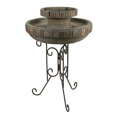Garden 30.5 in. Solar Powered Rustic Earth Tone Outdoor Garden Water Fountain Water Pond... by GSS