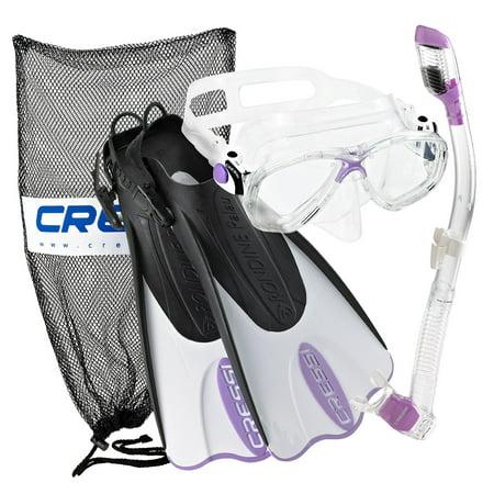 Cressi Palau Mask Fin Snorkel Set with Snorkeling Gear Bag, PR-SM