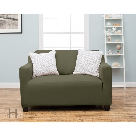 Dawson Collection Twill Strapless Slipcove By Home Fashion Designs (Loveseat, Sage)