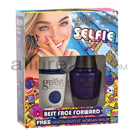 Gelish and Morgan Taylor Gelish Soak Off Gel Polish Two of A Kind - Best Face For
