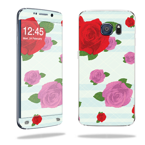 MightySkins Protective Vinyl Skin Decal for Samsung Galaxy S6 Edge wrap cover sticker skins Roses